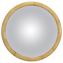 "Parchment ""Cider Crest"" Mirror in the Style of Karl Springer, 1980"