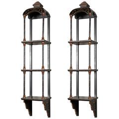 Pair of Chinoiserie Shelves