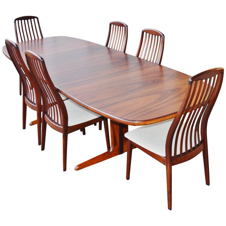 breathtaking danish scandinavian dining room furniture | Danish Rosewood Dining Set by Skovby at 1stdibs