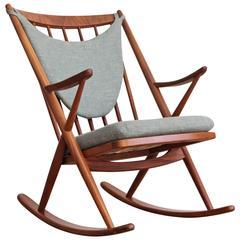 Frank Reenskaug Danish Modern Teak Rocking Chair