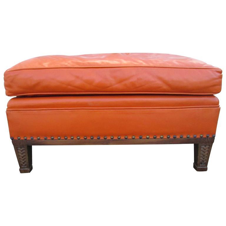 Furniture Johor Bahru Leather Sofa: J.B. Van Sciver Leather Ottoman At 1stdibs