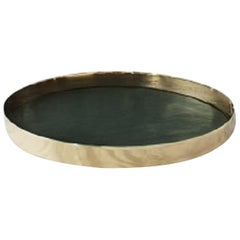 Karui Tray Design Gamfratesi, Medium, Dark Green Leather