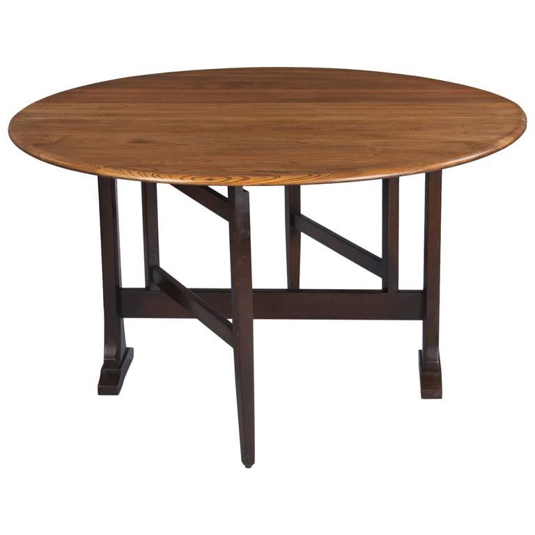 Pleasant Midcentury Oak Gateleg Table By Ercol England Download Free Architecture Designs Salvmadebymaigaardcom