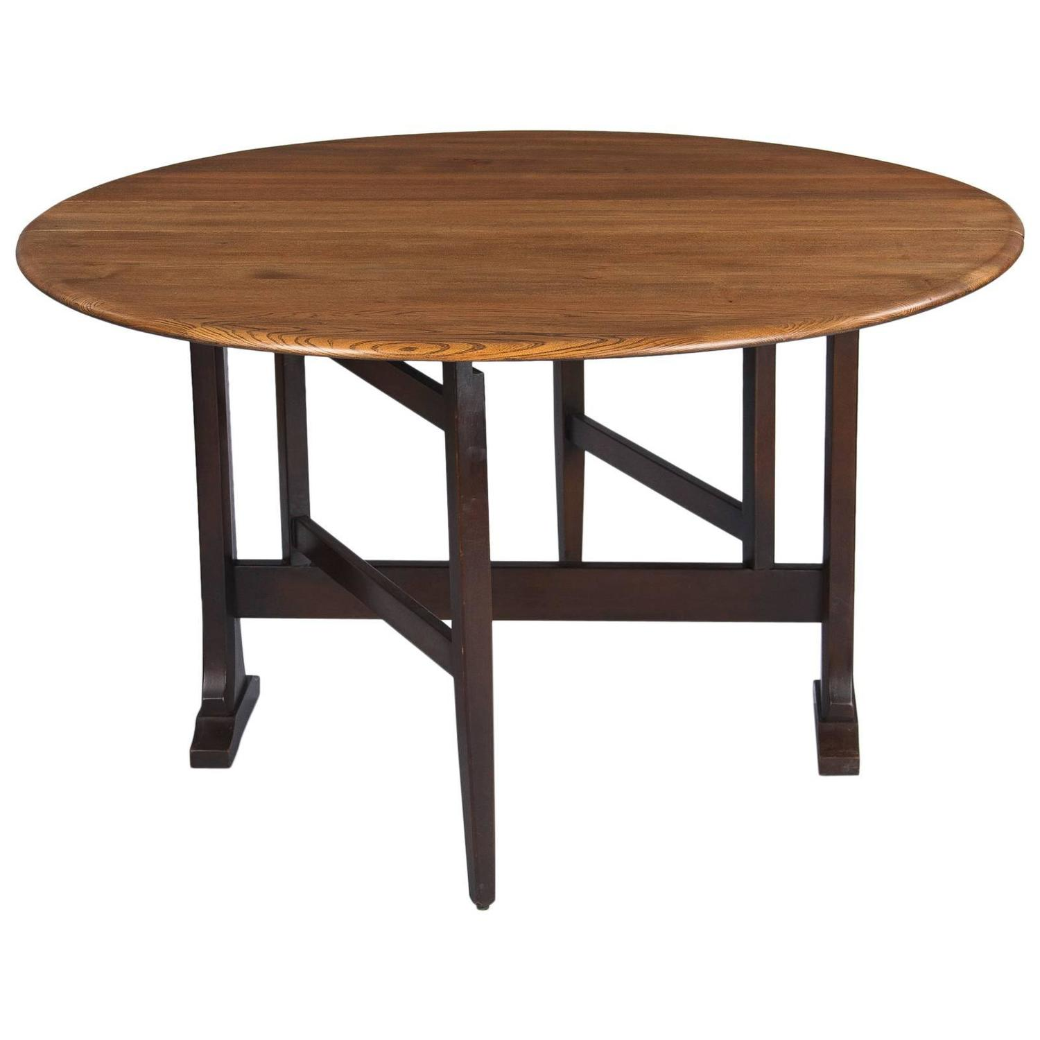 Midcentury Oak Gateleg Table by Ercol England at 1stdibs