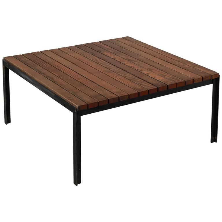 Florence knoll early t bar slat coffee or side table Florence knoll coffee table
