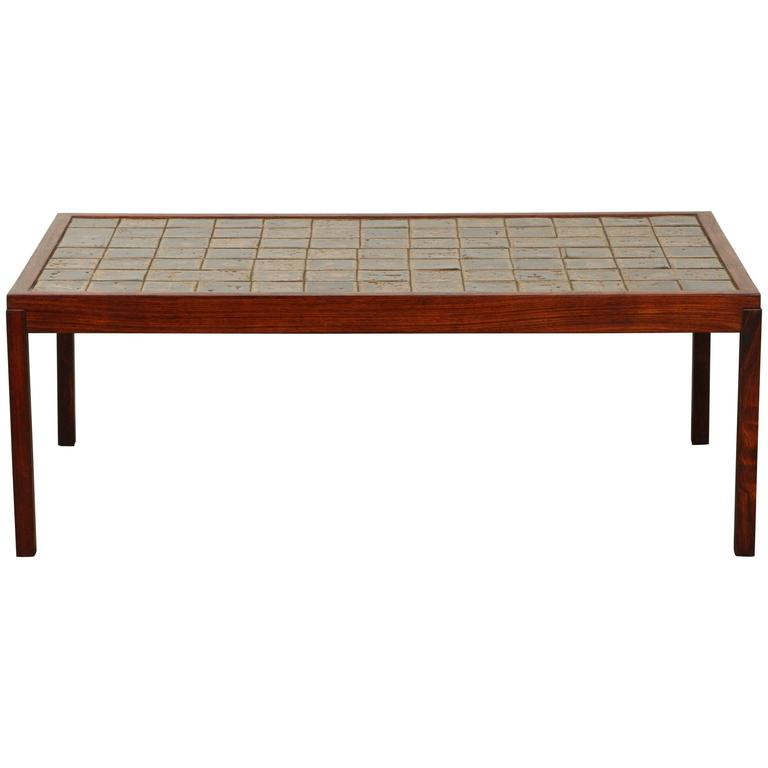 danish rosewood tile cocktail table at 1stdibs
