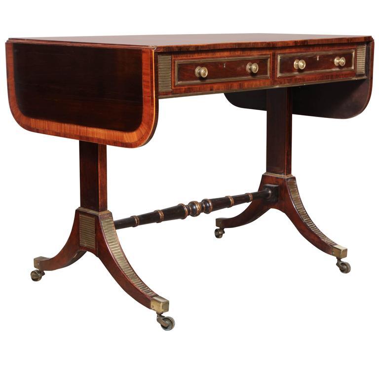 Regency Rosewood Sofa Table in the Manner of John McLean