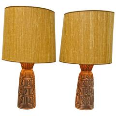 Pair of Ceramic Lamps by Design Technics