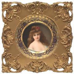 Royal Vienna Portrait Plaque