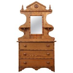 Diminutive Childs Faux Bamboo Dresser with Mirror