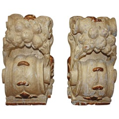 Pair of 18th Century Carved Wall Consoles