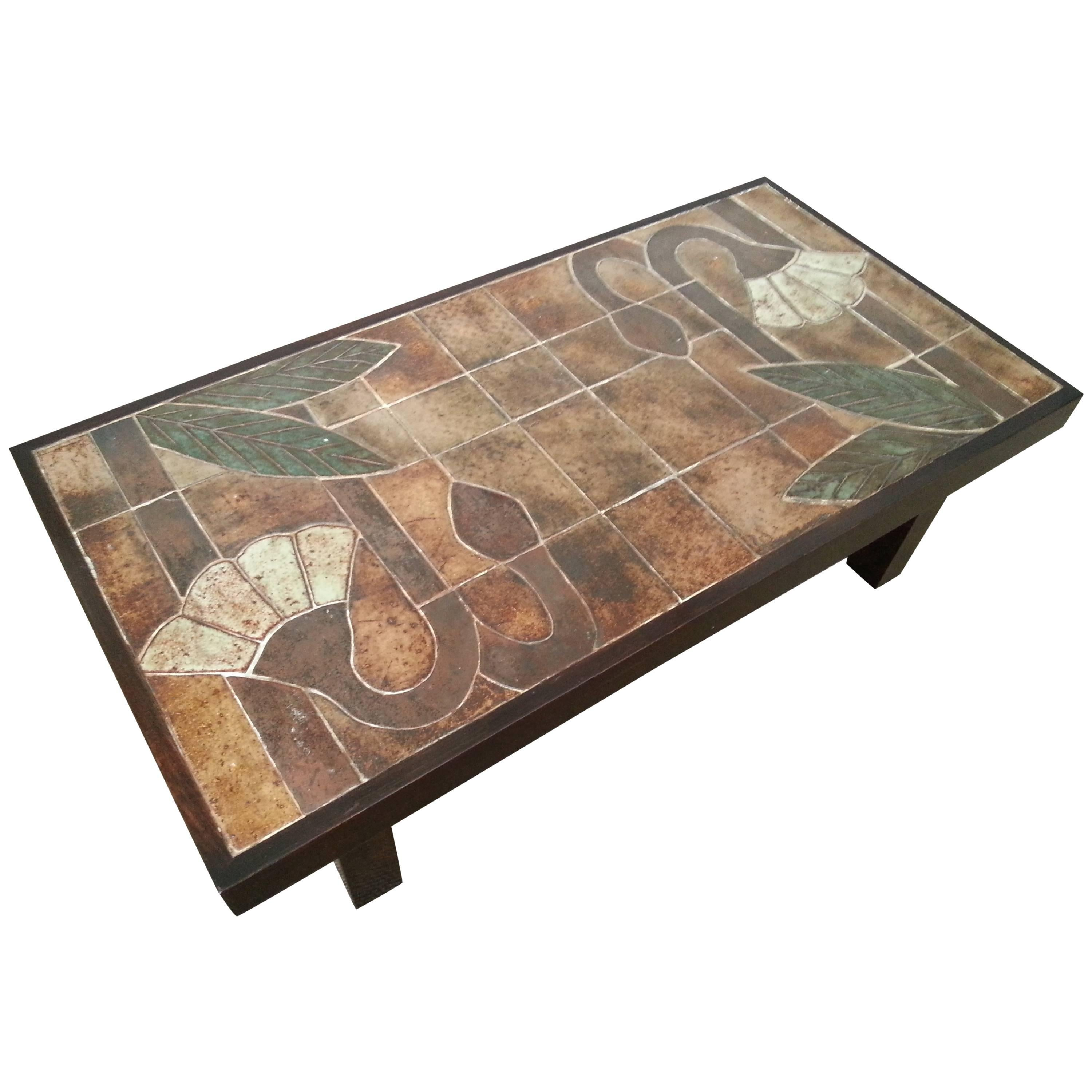 1960s Ceramic Coffee Table, Vallauris, France