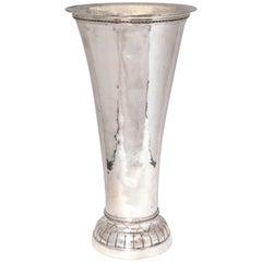 Large Art Deco Continental Silver (.800) Hanau Vase