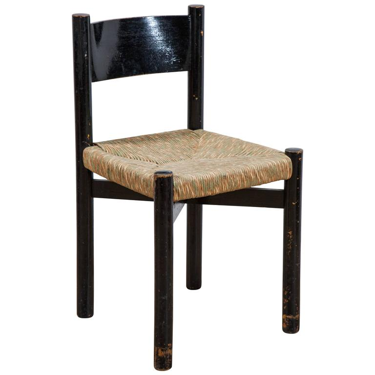 Charlotte Perriand Rush Seated Chair For Sale At 1stdibs