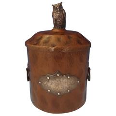 Joseph Heinrichs Copper and Sterling Silver Humidor with 3-D Owl
