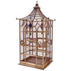 Grand Scaled Gothic Victorian Birdcage