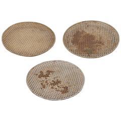 Set of Three Original Mathieu Matégot Dishes or Platters
