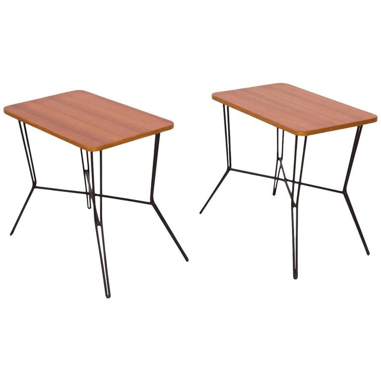Set of Two French Coffee or Side Tables in the Style of Jean Royère