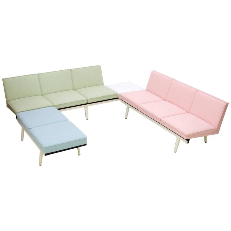 Fully restored george nelson steel frame sofa set at 1stdibs Steel frame sofa