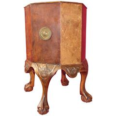 Octagonal Burr Walnut Wine Cooler or Jardinière