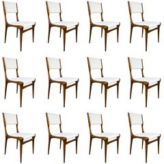 Set of 12 Carlo di Carli Walnut Chairs