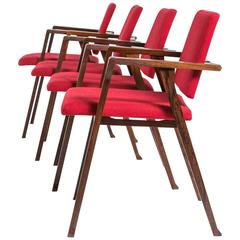 "Set of Four ""Luisa"" Armchairs by Franco Albini for Poggi"