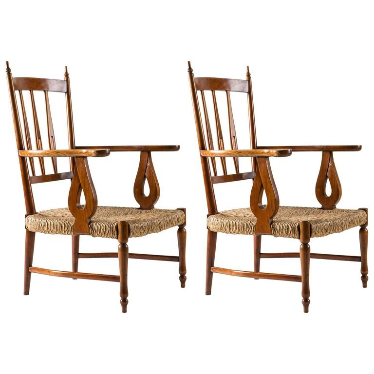 Pair of 1930s Lounge Chairs by Paolo Buffa 1