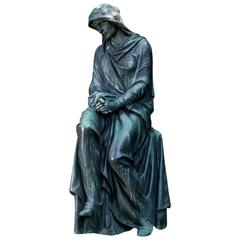 Bronze Statue Art Nouveau