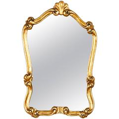 French Louis XV Style Gold Leaf Mirror, Early 1900s