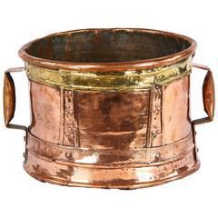 "18th Century French Copper ""Ferrat"" Vessel"