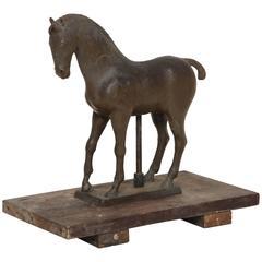 19th Century English Wax Equestrian Scuplture