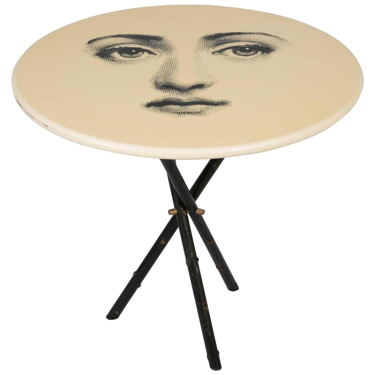 1960s iconic piero fornasetti table at 1stdibs for Iconic tables
