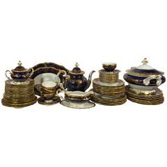 Vintage Weimar Germany Cobalt Porcelain Tea and Dinner Set