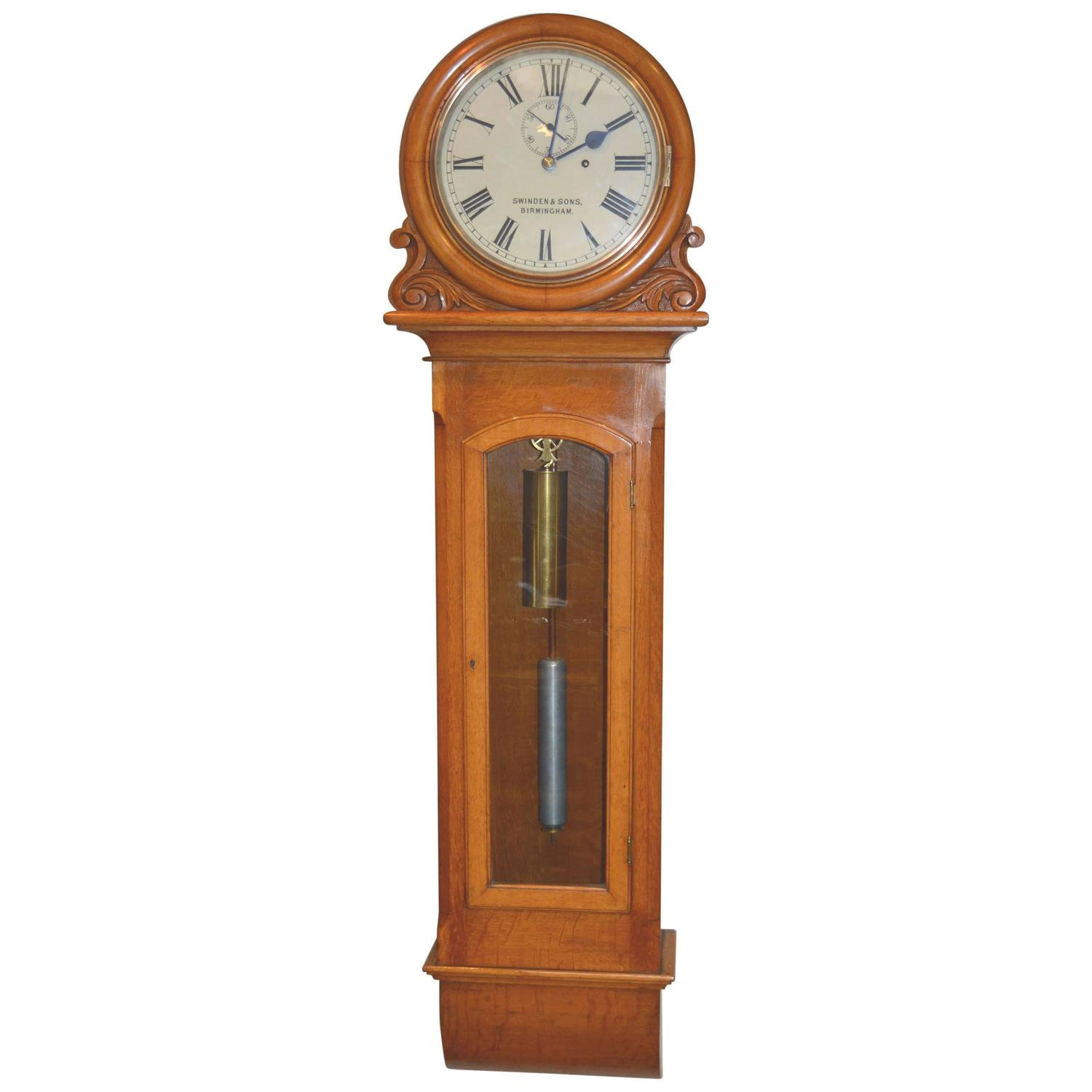 Light Oak Regulator Wall Clock At 1stdibs