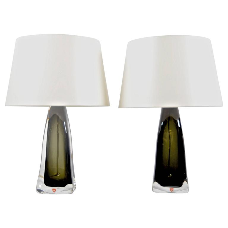 Pair of Table Lamps by Carl Fagerlund for Orrefors