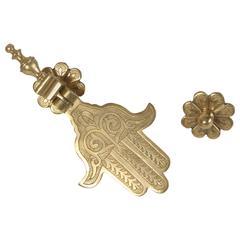 Moroccan Brass Khamsa Door Knocker