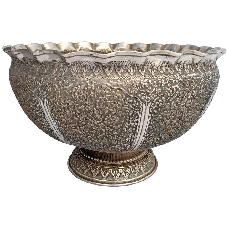 19th Century Indian Silver Punch Bowl or Champagne Cooler  : 3395152l from www.1stdibs.com size 768 x 768 jpeg 79kB