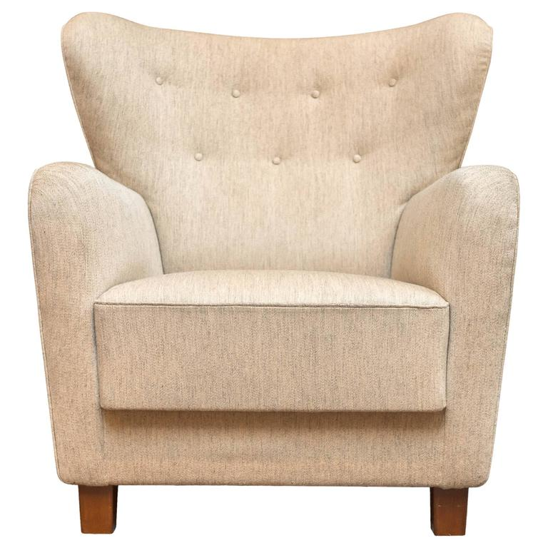 Thorald Madsens Jr. Snedkeri Wing Chair For Sale