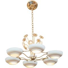 Paavo Tynell Style Six-Light Chandelier
