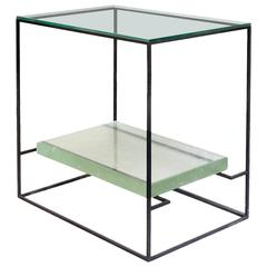 Floating Glass Side Table