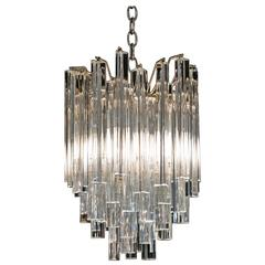 Vintage Venini Chandelier with Murano Glass