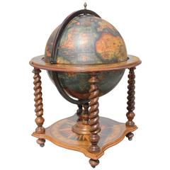 French Mid-Century Modern World Globe Bar, circa 1960s