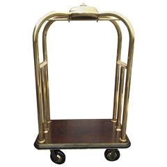 Vintage Brass Hotel Luggage Cart