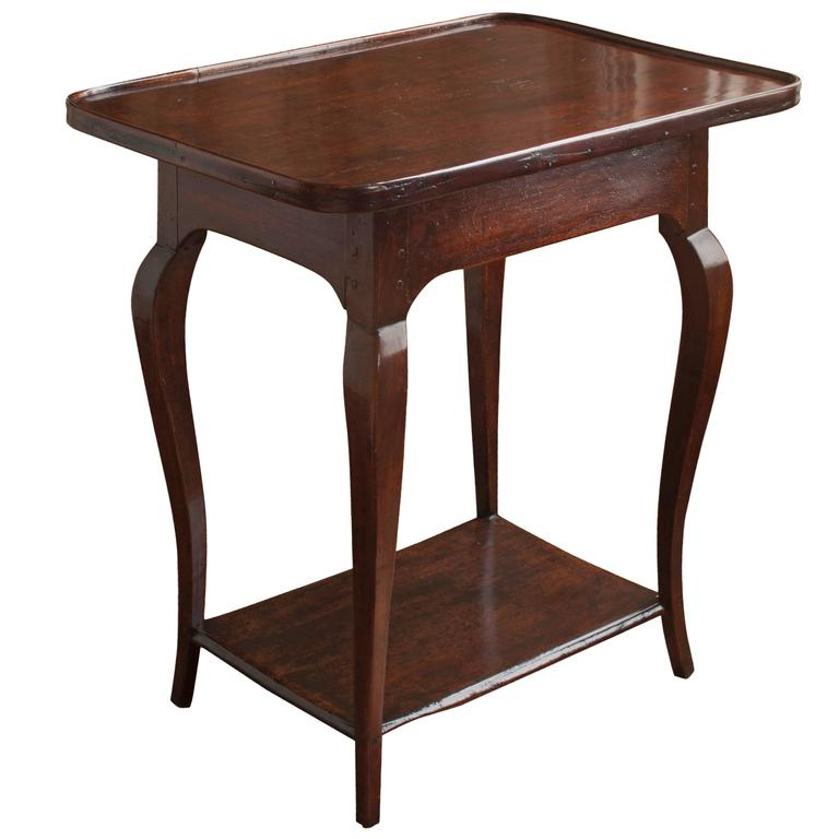 Louis xv provincial walnut table for sale at 1stdibs - Table de chevet louis xv ...