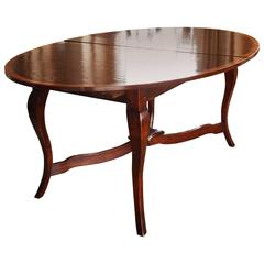 Louis XV Provincial Style Walnut Extending Dining Table