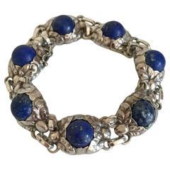 Georg Jensen Sterling Silver Bracelet with Lapis Lazuli from 1945-1951