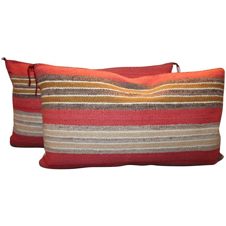 Navajo Indian Handwoven Saddle Blanket Pillows