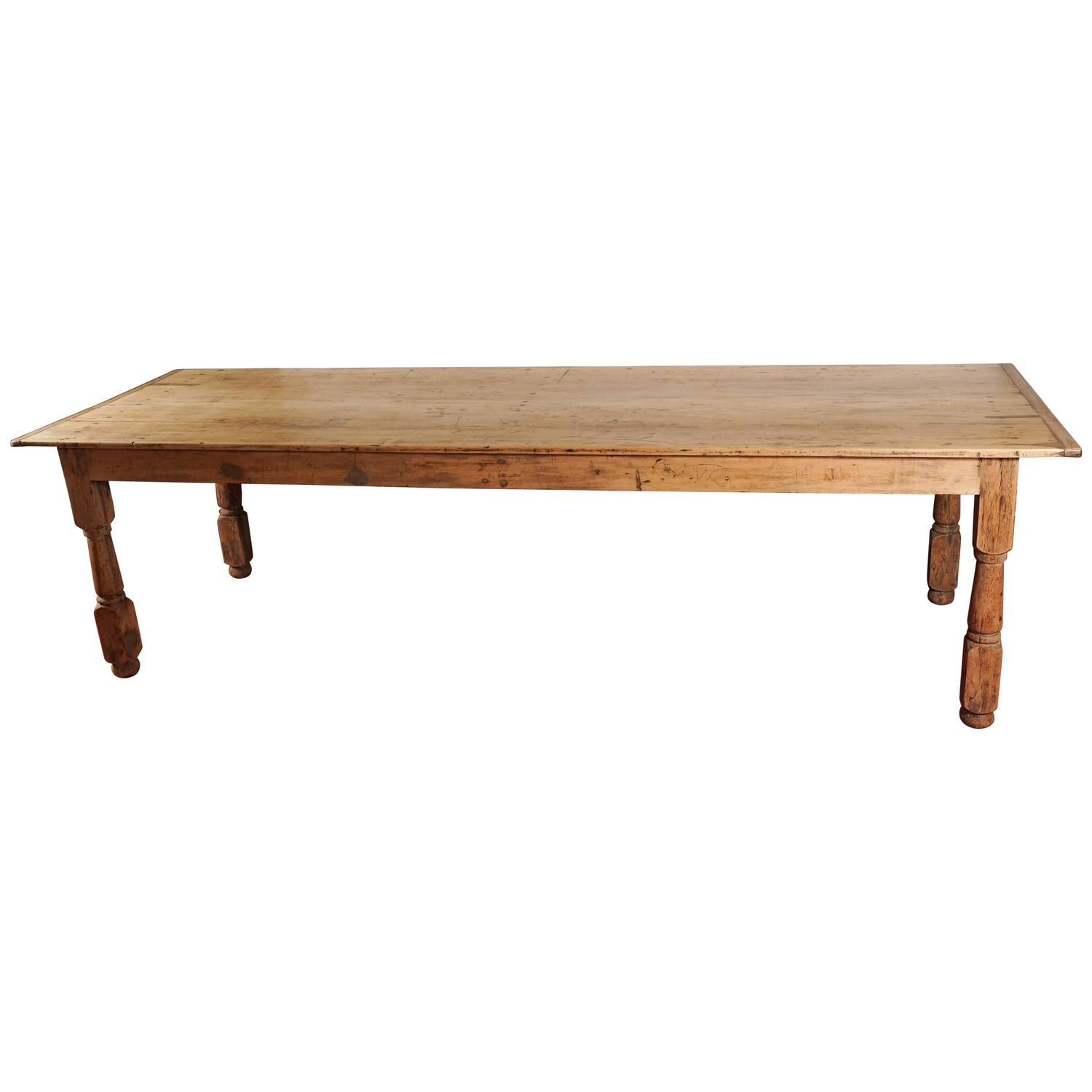 Rustic Farm Refectory Table At 1stdibs