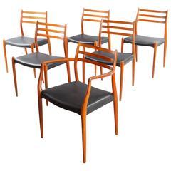 Six Danish Teak Dining Chairs Niels O. Moller Model 78 62