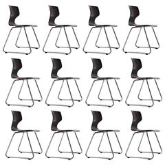 Adam Stegner Stacking Chairs Flototto, Germany, 1960